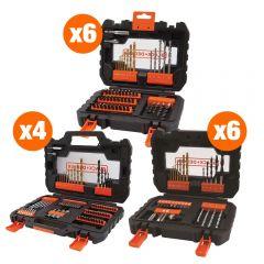 BLACK+DECKER ZESTAW AKCESORIÓW 4x A7231, 6x A7232, 6x A7233 + EKSPOZYTOR - BDSETSPAL-XJ