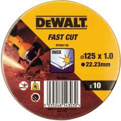 DEWALT ZESTAW TARCZ DO METALU 125x1,0mm 10szt. INOX DT3507-QZ