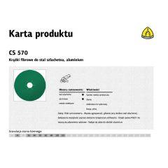 KLINGSPOR KRĄŻEK FIBROWY 125mm gr. 80 CS570 /25szt. 204096