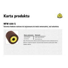 KLINGSPOR ŚCIERNICA WALCOWA DO SATYNOWANIA NFW600 100mm x 100mm x 19mm MEDIUM 258896
