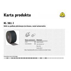KLINGSPOR ROLKA NA PODŁOŻU PŁÓCIENNYM KL381J 150mm gr.400  (50mb) 266393