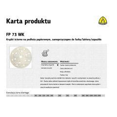 KLINGSPOR KRĄŻEK ŚCIERNY SAMOPRZYCZEPNY 150mm  FP73WK GLS47 gr.1000 /100szt. 320731