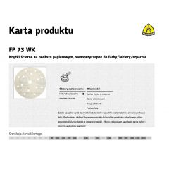 KLINGSPOR KRĄŻEK ŚCIERNY SAMOPRZYCZEPNY 150mm  FP73WK GLS47 gr.1500 /100szt. 320733