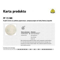 KLINGSPOR KRĄŻEK ŚCIERNY SAMOPRZYCZEPNY 125mm  FP73WK gr.180 /100szt. 321942