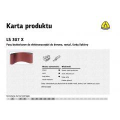 KLINGSPOR PASY BEZKOŃCOWE DO ELEKTRONARZĘDZI LS307X  30mm x 680mm gr. 40 /10szt. KBLS307X30-680-40