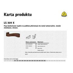 KLINGSPOR PASY BEZKOŃCOWE DO ELEKTRONARZĘDZI LS307X  30mm x 533mm gr. 40 /10szt. KBLS309X30X533P40