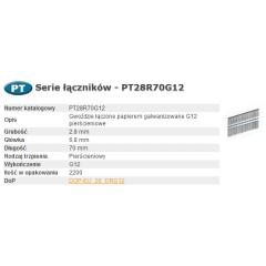 BOSTITCH GWOŹDZIE PT 280-70 RING G12 2,2M PT28R70G12
