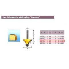 MAKITA FREZ DO ZAOKRĄGLEŃ R 3/8mm  ECONOMY D-11190