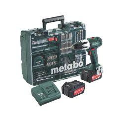 METABO WIERTARKO-WKRĘTARKA UDAROWA 18V 60/34Nm 2x4,0Ah LI-ION + 74szt. OSPRZĘTU SB 18 LT SET 602103640