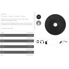 TARPOL TARNIK PROSTY FI = 125mm x 3 x 22,2mm,  GŁADŹ WSTĘPNA  T-11 TT11