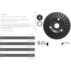 TARPOL TARNIK SKOŚNY FI = 125mm x 3 x 22,2mm,  GŁADŹ WSTĘPNA  T-12 TT12