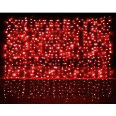 VOLTENO LAMPKI KURTYNA 400szt.CZERWONE VO0501