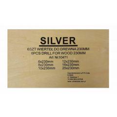 SILVER ŚWIDER DO DREWNA KPL. 6szt./230mm 6/8/10/12/16/25mm 10471