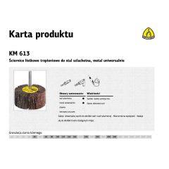 KLINGSPOR ŚCIERNICA LISTKOWA TRZPIENIOWA KM613  60mm x 30mm x 6mm gr.100 13053