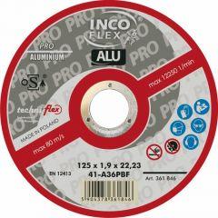 INCOFLEX TARCZA METAL ALUMINIUM  125*1,0 MN417-125-1.0-22A60P