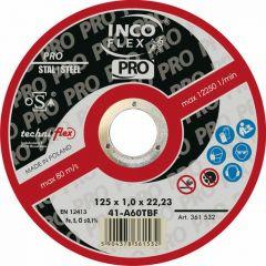 INCOFLEX TARCZA DO SZLIFOWANIA METALU  125 x 6,5 x 22,2mm MN27-125-6.5-22A24T