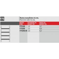 FARAONE RAMA RUSZTOWANIA  75cm wys.200cm F75200.40