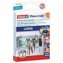 TESA PLASTRY POWERSTRIPS LARGE 10szt./BIAŁE 58000-00132-01
