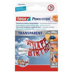 TESA PLASTRY POWERSTRIPS DECO 16 szt. 200g PRZEZROCZYSTE 58800-00016-01
