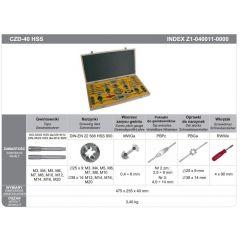 FANAR GWINTOWNIKI + NARZYNKI KOMPLET 40 elem. M3-M20 CZB-40 HSS Z1-040011-0000