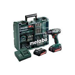 METABO WKRĘTARKA BS 18  SET/2x2,0Ah + 74 szt. OSPRZĘTU 602207880