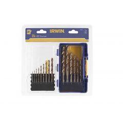 IRWIN ZESTAW 15szt. HSS TiS 1.5mm, 2mm, 3.5mm, 4mm, 4.5mm 5mm, 5.5mm, 6mm, 6.5mm, 7mm, 8mm, 9mm, 10m IW3038501
