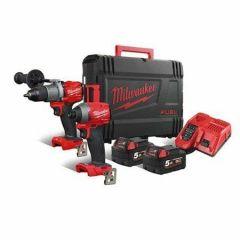 MILWAUKEE ZESTAW WKRĘTARKA UDAROWA+ZAKRĘTARKA POWERPACK M18FPP2A2-502X 4933464268