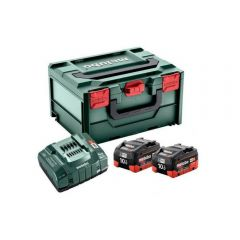 METABO AKUMULATOR 18V 10,0Ah LIHD x2 +ŁADOWARKA ASC ULTRA +METABOX 685142000