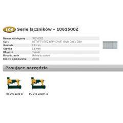 BOSTITCH SZTYFTY MINI 106 15mm 20 000 szt. 1061500Z