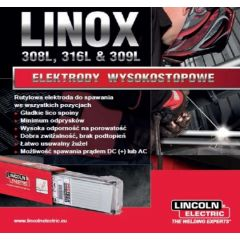 LINCOLN ELECTRIC ELEKTRODA LINOX 316L 4,0mm 3,12kg DO STALI WYSOKOSTOPOWYCH 610161