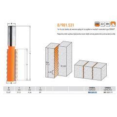 CMT FREZ DO ŁĄCZEŃ HM D=15,87 I=51,5 R=4,36 S=12 L=89 981.531.11