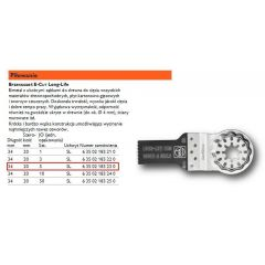 FEIN BRZESZCZOT E-CUT LONG-LIFE 20mm, DO DREWNA, UCHWYT SL 63502183230