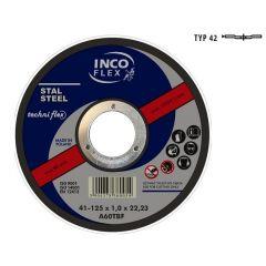 INCOFLEX TARCZA DO METALU 115 x 3,2mm WYGIĘTA M42-115-3.2-22A30R