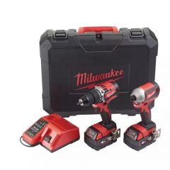 MILWAUKEE ZESTAW WKRĘTARKA+ZAKRĘTARKA POWERPACK M18CBLPP2A-402C 4933464536